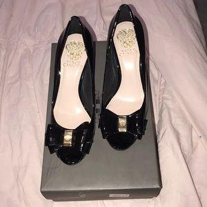 Vinca Camuto Black Calf Heel